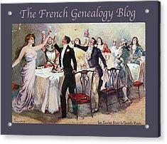 French New Year With Fgb Border Acrylic Print by A Morddel