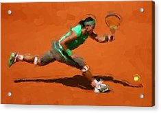 French Open Return Acrylic Print by Brian Menasco
