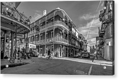 French Quarter Afternoon Bw Acrylic Print by Steve Harrington