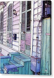 French Quarter Stoop 213 Acrylic Print by John Boles
