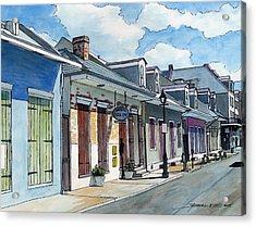 French Quarter Street 211 Acrylic Print by John Boles
