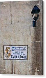 French Quarter Street Sign Acrylic Print by Ray Devlin