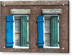 French Quarter Windows Acrylic Print by Brenda Bryant
