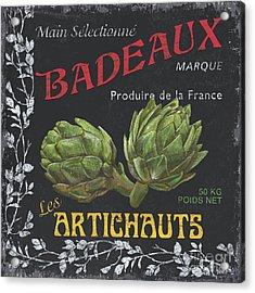French Veggie Labels 1 Acrylic Print by Debbie DeWitt
