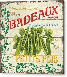 French Veggie Sign 1 Acrylic Print by Debbie DeWitt