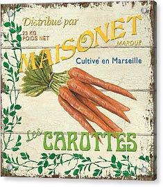 French Veggie Sign 2 Acrylic Print by Debbie DeWitt