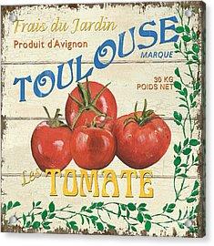 French Veggie Sign 3 Acrylic Print by Debbie DeWitt