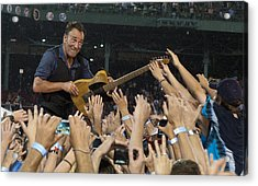 Frenzy At Fenway Acrylic Print by Jeff Ross