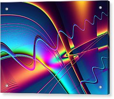 Frequency Acrylic Print by Wendy J St Christopher