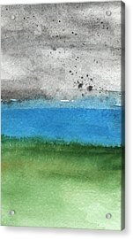 Fresh Air- Landscape Painting Acrylic Print by Linda Woods