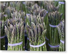 Fresh Asparagus Acrylic Print by Mike  Dawson