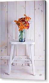 Fresh Day Lilly Flowers  Acrylic Print by Edward Fielding