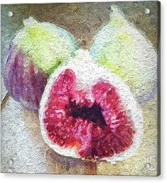 Fresh Figs Acrylic Print by Linda Woods