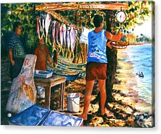 Fresh Fish Acrylic Print by Estela Robles