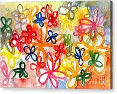 Fresh Flowers Acrylic Print by Linda Woods