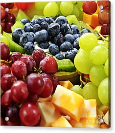 Fresh Fruits And Cheese Acrylic Print by Elena Elisseeva