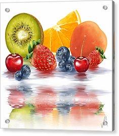Fresh Fruits Acrylic Print by Veronica Minozzi