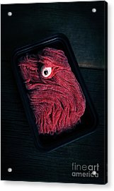 Fresh Ground Zombie Meat - Its What's For Dinner Acrylic Print by Edward Fielding
