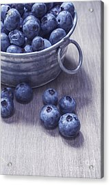 Fresh Picked Blueberries With Vintage Feel Acrylic Print by Edward Fielding
