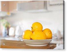 Freshly Picked Lemons Acrylic Print by Amanda Elwell