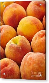 Freshness Of Peaches Acrylic Print by Elena Elisseeva