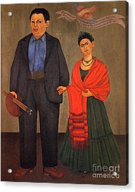 Frida Kahlo And Diego Rivera 1931 Acrylic Print by Pg Reproductions