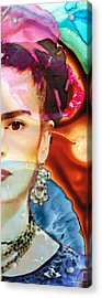 Frida Kahlo Art - Seeing Color Acrylic Print by Sharon Cummings