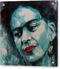 Frida Kahlo Acrylic Print by Paul Lovering