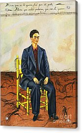 Frida Kahlo Self-portrait With Cropped Hair Autorretrato Con Pelo Cortado Acrylic Print by Pg Reproductions