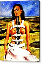 Frida Kahlo The Broken Column Acrylic Print by Pg Reproductions
