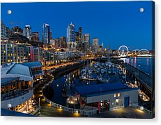 Friday Night In Seattle Acrylic Print by Ken Stanback