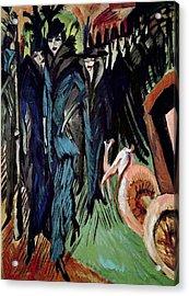 Friedrichstrasse Acrylic Print by Ernst Ludwig Kirchner
