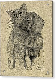 Friends Acrylic Print by Charles Smith