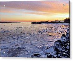 Frigid Sunrise Acrylic Print by Janice Drew