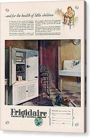 Frigidaire 1926 1920s Usa Cc Fridges Acrylic Print by The Advertising Archives