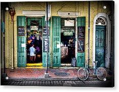 Fritzels Bar On Bourbon Street Acrylic Print by Ray Devlin