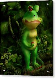 Frog Acrylic Print by Diane Bradley