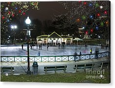 Frog Pond Ice Skating Rink In Boston Commons Acrylic Print by Juli Scalzi