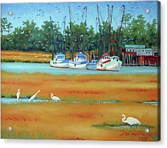 Frogmore Boats Acrylic Print by Dwain Ray