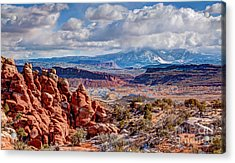 From The Fiery Furnace Acrylic Print by Bob and Nancy Kendrick