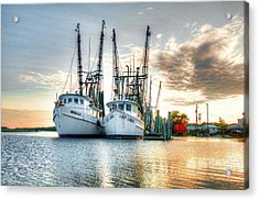 Front Of The Line Acrylic Print by Scott Hansen