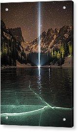 Frozen Illumination At Dream Lake Rmnp Acrylic Print by Mike Berenson