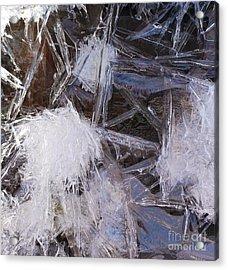 Frozen In Geometry Acrylic Print by Kenna Hillman