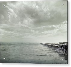 Frozen Jetty Acrylic Print by Scott Norris