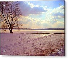Frozen Lake II Acrylic Print by Silvie Kendall