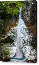 Frozen Marymere Falls Acrylic Print by Inge Johnsson