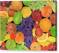 Fruit Acrylic Print by Bav Patel