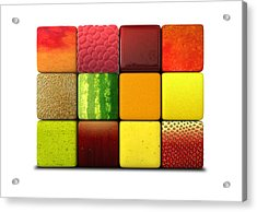 Fruit Cubes Acrylic Print by Allan Swart