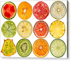 Fruit Market Acrylic Print by Steve Gadomski