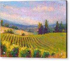 Fruit Of The Vine - Sokol Blosser Winery Acrylic Print by Talya Johnson